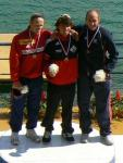 Eirik, Adam and me on podium