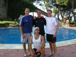 Pre-Olympics, Barcelona. Ian, Paul and Trev
